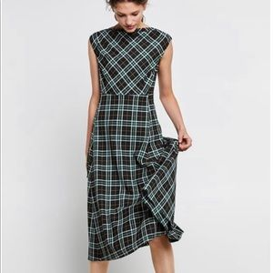 Zara checkered dress NWOT